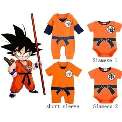 2017 Dragon Ball Goku Baby Cosplay Costume Newborn Infant Boy Clothes  Romper Bodysuit Outfits d01e329d6b