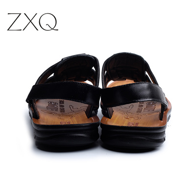 0c488b48538b Qoo10 - 2017 England S Cow Leather Men Sandals Black Brown Hand Sewing Men  Sum...   Men s Bags   Sho.