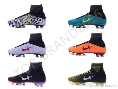 115c141939d 2017 football shoes cleats for free Mercurial Superfly V FG high top soccer  cleats 38-