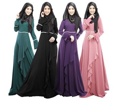 2017 Muslim Muslimah Dress Jubah Baju Kurung