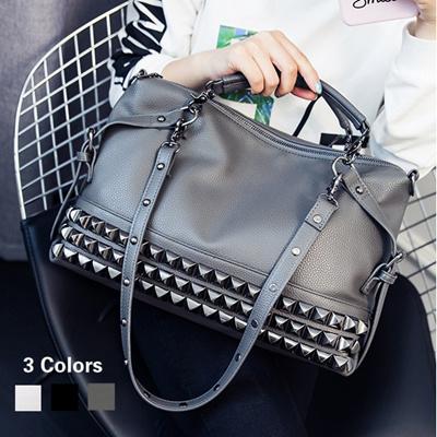 9f38d21d0d 2017 New Arrive Women Fashion Tote Bag Lady Punk Rivet Messenger Bag Large  Capacity Shopping Bag