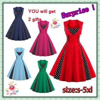 4e8befff4362a Qoo10 - 2017 New Women Robe Pin Up Dress Retro 2017 Vintage 50s 60s  Rockabilly... : Women's Clothing