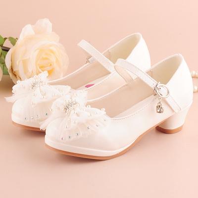 Qoo10 2017 Princess High Heel Dress Shoes Shoes Girls White Flower