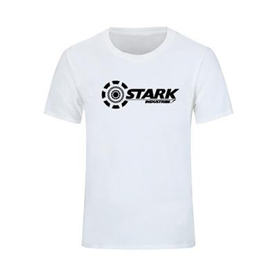 d8278869 2017 STARK INDUSTRIES TONY STARK IRON MAN T-shirts Summer 100% Cotton Shirts  Fitness