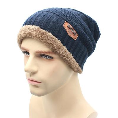 2017fashion Knit Beanie warmer Knitted Winter Hats For Men women Caps warm  Bonnet fd857b97997f