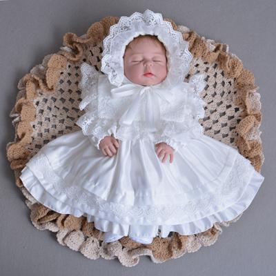 449bce0b0 Qoo10 - 2018 Autumn Winter Baby Girs Newborn Dress for Christening 1 Year  Infa... : Baby & Maternity