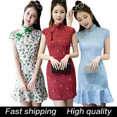 1eda2a8251dd Qoo10 - 2018 CNY Cheongsam Dress Qipao Natural Silk Modern Improved Plus  Size ...   Women s Clothing