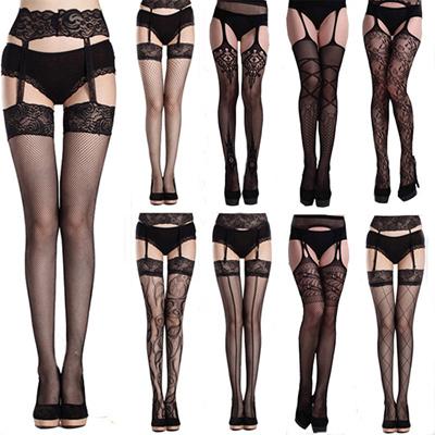 3ec50ed9db7 Qoo10 - 2018 CNY ♥Underwear Lace Leggings♥Sexy Lingerie♥Gift Couple  Sweet♥Tigh...   Underwear   Sock.