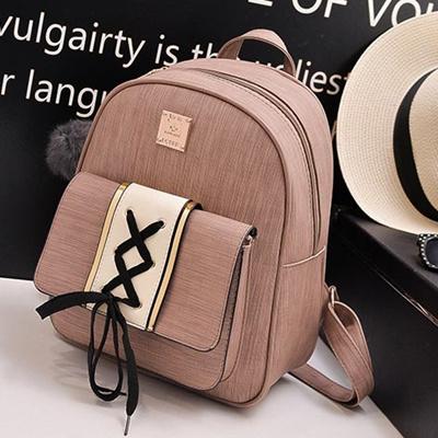 Qoo10 - 2018 Fashion PU backpack leisure student bag shoulder bag three- piece...   Men s Bags   Sho. 4ddd3f2609ca2