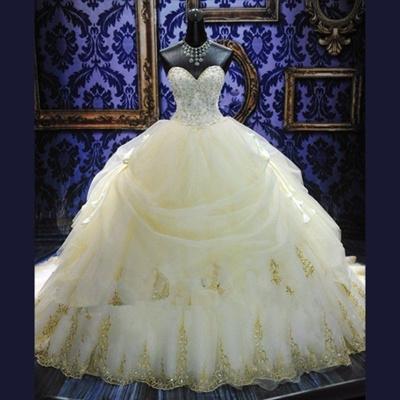 Qoo10 - 2018 Luxury Wedding Dresses Ball Gown 2017 Beaded Bridal ...
