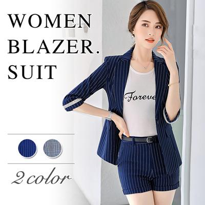 87811e3cc55 Qoo10 - Blazer+Short Pants   Women s Clothing