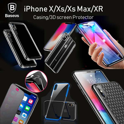 size 40 7902d 1d919 2018 New Baseus iPhone xS X XR MAX 8 7 6 6S PLUS Case 3D Round Curved edge  screen protector SG