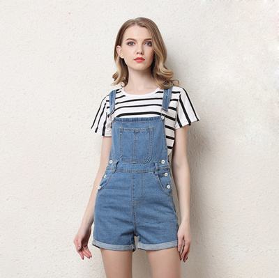 5030a7dfa612 Qoo10 - 2018 New Girls Short Denim Jumpsuit Romper Women Summer Overalls  Casua...   Women s Clothing
