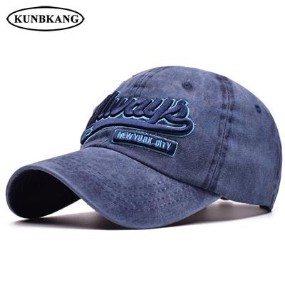 35c042b4608 2018 New Washed Denim Baseball Cap 3D Embroidery Letter Snapback Hat Bone  Casquette Men Women Summer