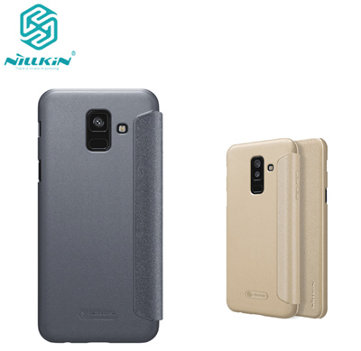 buy online 9f618 b6ee7 2018 NILLKIN PU leather case flip cover for Samsung Galaxy A6 2018 A6 plus  2018