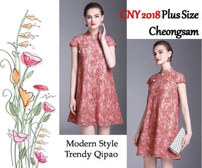9ccac71643 2018 PLUS SIZE Modern Cheongsam Qipao CNY Chinese New Year Dress