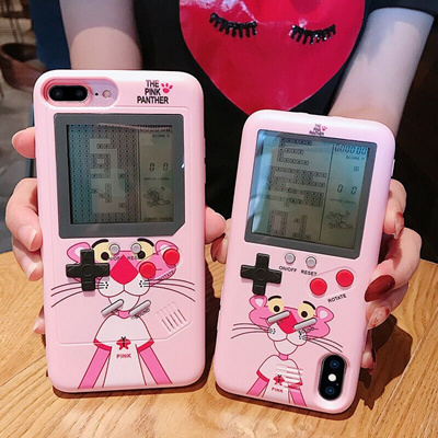2018 Popular Cute the pink panther tetris game phone case for Iphone 6 7 8  Plus Iphone X