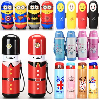 2018 Thermal Flask Vacuum Cup Water Bottle Kids Cartoon Cups Travel Mugs