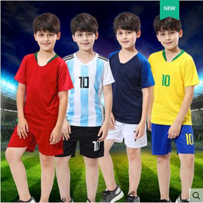 78bff8771 2018 World Cup Germany Argentina Brazil jerseyChildrens football wear  short-sleeved suit