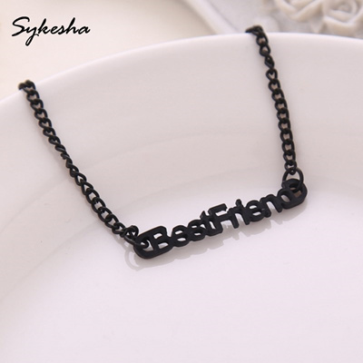 2019 Fashion Friendship Letter Words Chain Bracelet Good Friend Best  Friends Boudoir Bracelet