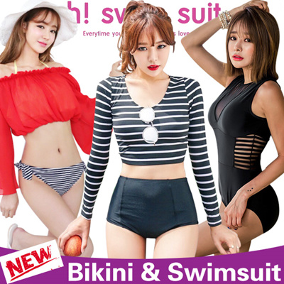 c8ced7b7f1594 2019 Korean style Bikini   Swimsuit   Swimming wear   Rash guards   Swimwear    Surfing