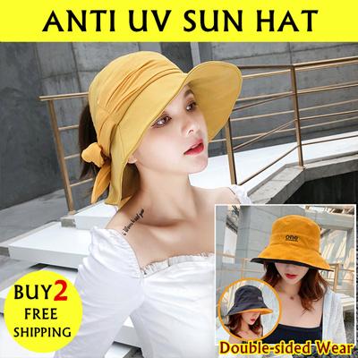 d3755be77d1 Qoo10 - 2019 New Ladys Sun Hats  Beach Fisherman Hats  Plain Bucket Hat Anti  U...   Fashion Accessor.