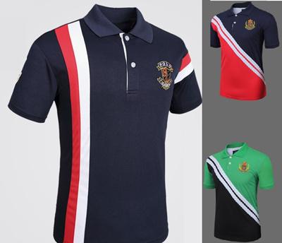 0e02907b549d2 2019 new mens Polo Shirt Mens stitching Various T-shirt CSL04p