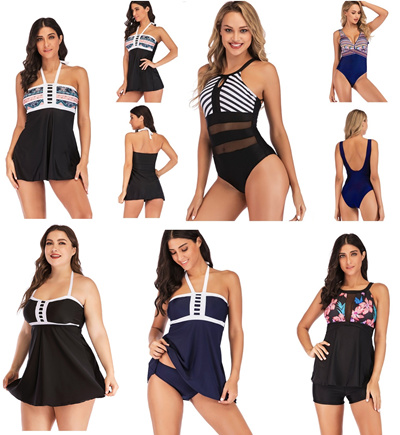 2019 New Printing and Fertilizing Increased Size Sexy Conservative Slim  Swimsuit of 29 S-5XL