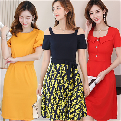 2de23126 2019 New Summer Korean Ladies Fashion Dress Plus Size Collection /Dress  /Blouse/ Skirt/Midi Skirts