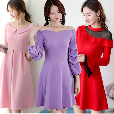 1675a45ec4b 2019 New Summer Plus Size Collection Korean Ladies Fashion Dress OL work  dress SLIM LONG SLEEVE TOP