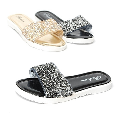 5fdf794d2b13 Qoo10 - 20cm 2.0cm Pearl Jelly Slippers Women Sandals Glitter   Men s Bags    Shoes