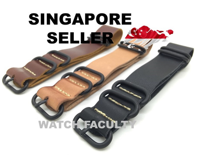 b3548020f Qoo10 - Leather NATO Strap : Watches