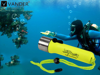 2100LM CREE Q5 LED Dive Diving Flashlight Waterproof Underwater Scuba Dive  Torch Light Lamp Lanterna