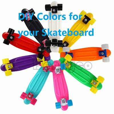 Qoo10 - 22 inch fish skate board pastel color banana board penny board mini cr... : Sports Equipment