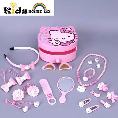 6d45424bc Qoo10 - 23-piece Hello Kitty Jewelry/ Hair Accessories Gift Set w Box (Big)  fo... : Kids Fashion