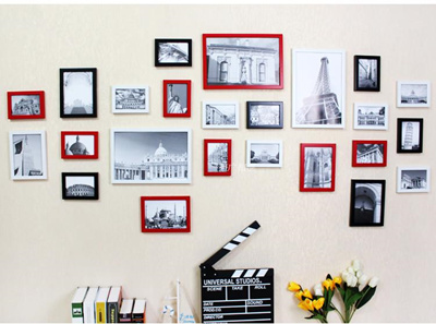 24 Frames Photo Wall Deco House Warming Gift Home Decoration