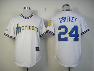 huge selection of 735e3 dbe0c #24 Ken Griffey Jr jersey Seattle Mariners Jersey Embroidery Logo Sports  Sportswear Baseball Jerse