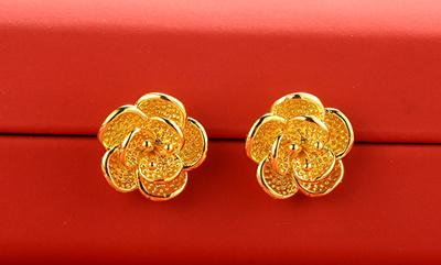 24k Real Gold Earrings Dipped