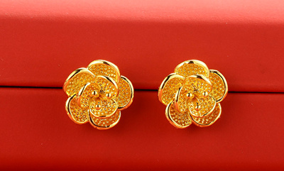 Qoo10 - ★★24k real gold earrings ★★★ 24K real Gold sheets : Watch & Jewelry