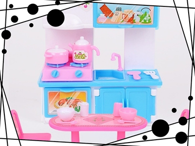 Qoo10 25pcs Creative Mini Cartoon Plastic Barbie Doll Kitchen