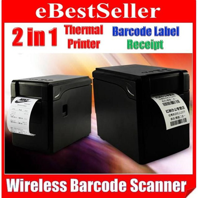 2in1 GPrinter Warehouse Barcode Label + Shop Pos Cash Register Receipt  Thermal Printer