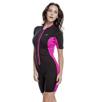 8c78ef2ac0fea 2mm Warm Neoprene Shorty Wetsuit Women One Piece Swimsuit Diving Snorkeling  Swimwear Wet Suit