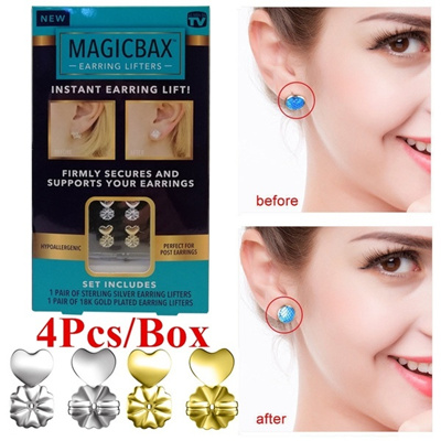 3fa07c65d Qoo10 - 2Pairs Magic Bax Earrings Backs Support Earring Lifts  Hypoallergenic F... : Watch & Jewelry