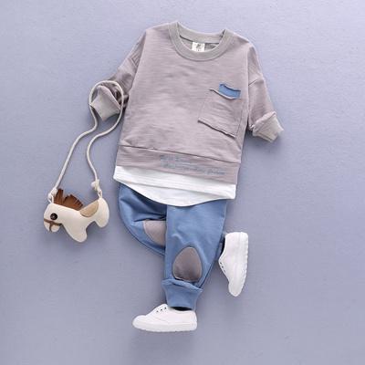 9c1e33306f5e Qoo10 - 2PC Toddler Baby Boys Clothes Outfit Infant Boy Kids Shirt  Tops+Pants ...   Kids Fashion