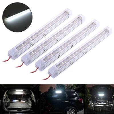 qoo10 2pcs 12v car interior 72 white led strip lights bar lamp light for van furniture deco. Black Bedroom Furniture Sets. Home Design Ideas