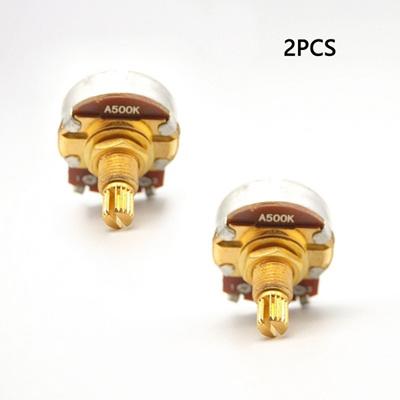 2PCS A500K Short Split Shaft 18mm Guitar Volume Tone Pots Potentiometer For  ELectric Guitar Bass Ful