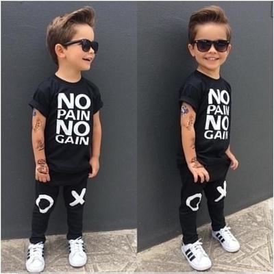 ba8a63364018 Qoo10 - 2PCS Kids Baby Boys Summer Outfit Clothes Casual T-shirt Tops+Pants  Se...   Women s Clothing