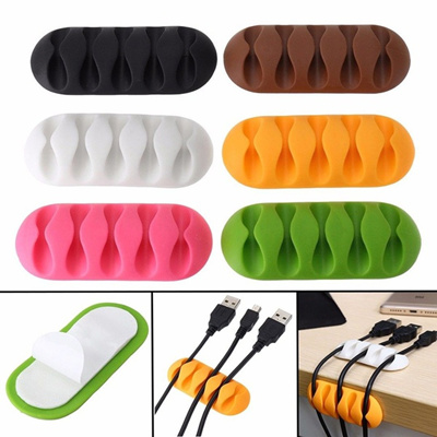 2x Cable Reel Wire Organizer Desktop Clips Cord Management Headphone Wire  Holder add1351d0bee