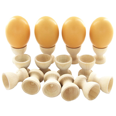 2x Egg Cup Holder Wooden Kitchen Dinning Table DIY Crafts Home Garden Decor/&