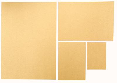 3 5pcs 250gsm Kraft Paper Brown 350gsm